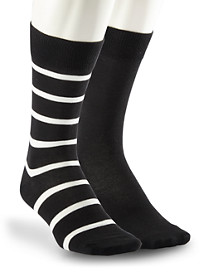 Polo Ralph Lauren® 2-pk Solid/Stripe Socks