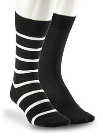 Polo Ralph Lauren® 2-pk Solid/Stripe Socks