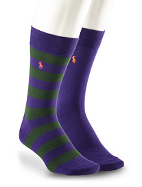 Polo Ralph Lauren® Solid/Rugby Stripe Socks (2 Pack)