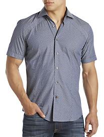 Bogosse® Mini Nate Navy Printed Sport Shirt