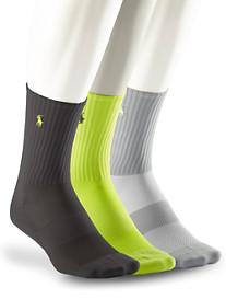 Polo Ralph Lauren® 3-pk Performance Crew Socks