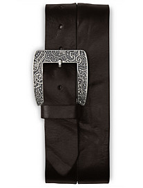 Robert Graham® Vintage Paisley Embossed Leather Belt