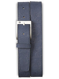 Robert Graham® Paisley Embossed Nubuck Leather Belt