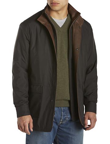 Remy Lightweight Leather-Trim Microfiber Jacket - $800.0