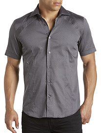 Bogosse® Mini Nate Grey Printed Sport Shirt