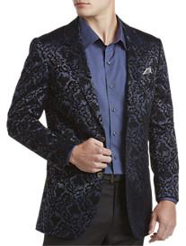 Bogosse® Flocked-Velvet Floral Sport Coat