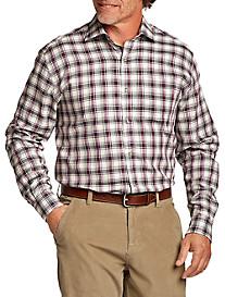 Cutter & Buck™ Olmsted Plaid Poplin Sport Shirt