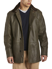 Remy Army Green Rustic Lambskin Jacket