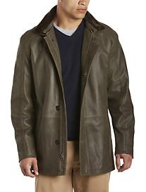 Remy Army Green Rustic Lambskin Jacket