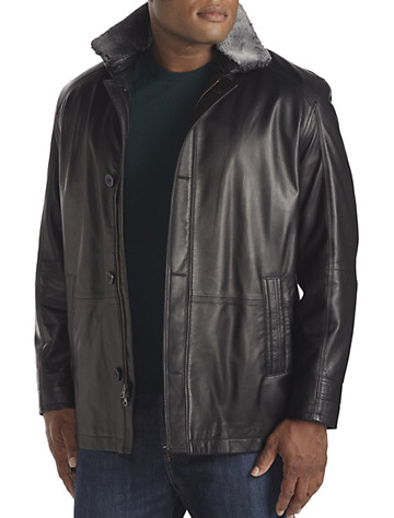 Remy Falcon Shearling-Lined Lambskin Car Coat - $1497.48