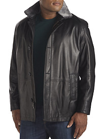 Remy Falcon Shearling-Lined Lambskin Car Coat