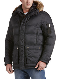 Rainforest Puffer Jacket with Fur-Trim Hood