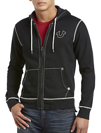 True Religion® Contrast-Stitch Zip-Front Hoodie