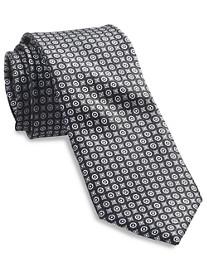 Rochester Small Circle Medallion Silk Tie