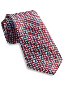 Rochester Small Circle Medallion Silk Tie