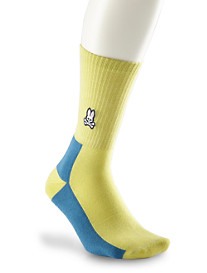 Psycho Bunny® Wide-Ribbed Athletic Crew Socks