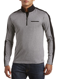Michael Kors® Nylon-Trim Half-Zip Pullover