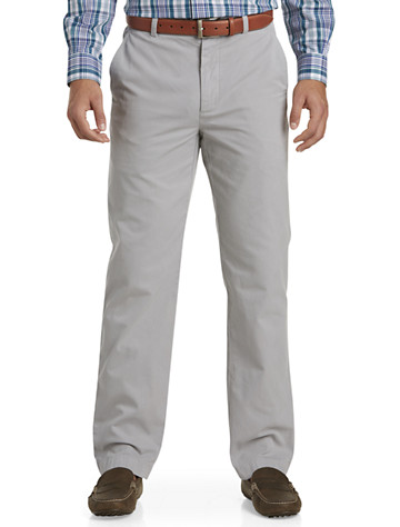 Brooks Brothers® Flat-Front Garment-Washed Chinos - Available in alloy grey