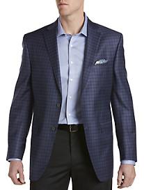 David Donahue Windowpane Wool Sport Coat
