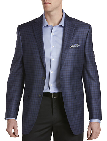 David Donahue Windowpane Wool Sport Coat
