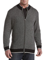 Society of One® Zip-Front Ribbed Sweater