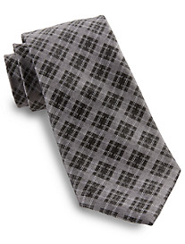 Rochester Grid Plaid Silk Tie