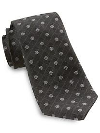 Rochester Diamond Floral Silk Tie