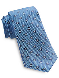 Rochester Diamond Medallion Silk Tie