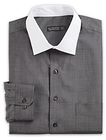 Rochester Non-Iron Chambray Dress Shirt with White Collar