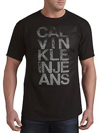 Calvin Klein Jeans® Gel Overlay Logo Graphic Tee