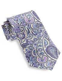Rochester Made in Italy Luminescent Paisley Silk Tie