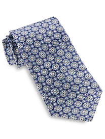 Rochester Made in Italy Floral Medallion Silk Tie