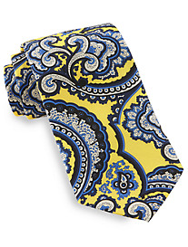 Rochester Made in Italy Square Paisley Silk Tie