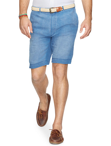 Polo Ralph Lauren® Straight-Fit Linen Chambray Shorts - $62.48