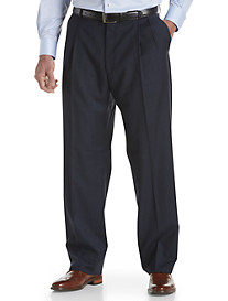 Ballin® Comfort-EZE Double-Pleated Sharkskin Dress Pants