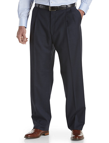 Ballin Comfort EZE Double-Pleated Sharkskin Dress Pants