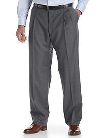 Ballin® Comfort-EZE Double-Pleated Sharkskin Dress Pants