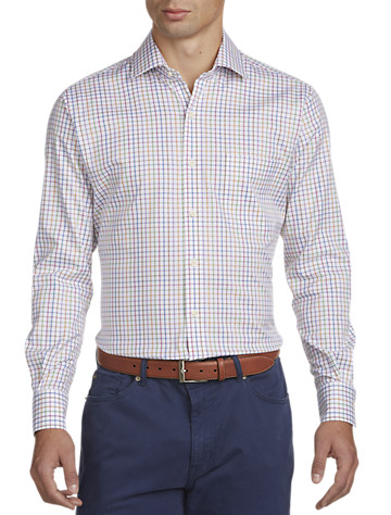 Peter Millar® Nanoluxe Easy-Care Pinwheel Twill Sport Shirt -  On Sale!