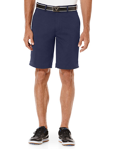 Callaway® Flat-Front Stripe Shorts ( Active Bottoms )