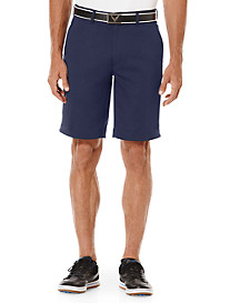 Callaway® Flat-Front Stripe Shorts