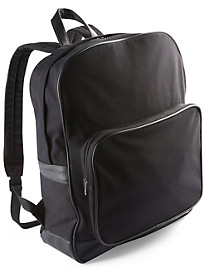 Society of One® Twill Backpack with Leather Trim