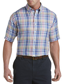 Brooks Brothers® Plaid Linen Sport Shirt
