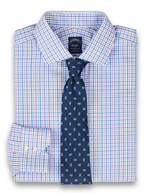 Brooks Brothers® Luxe Non-Iron Double Check Dress Shirt