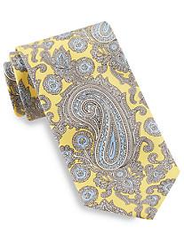 Brioni Printed Floral Paisley Silk Tie