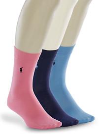 Polo Ralph Lauren® 3-pk Soft Touch Socks