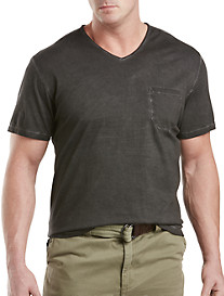Society of One® Washed Solid V-Neck Tee