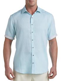 Rochester Linen Sport Shirt with Contrast Trim