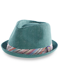 Robert Graham® Fedora with Aztec-Print Hatband