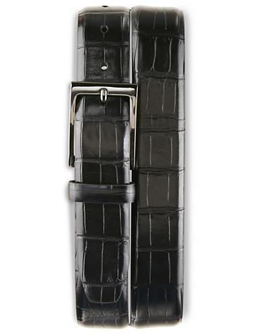 Rochester Crocodile-Embossed Belt - ( Belts & Suspenders )