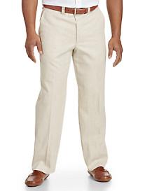 Bruno Saint Hilaire® Linen-Blend Flat-Front Pants